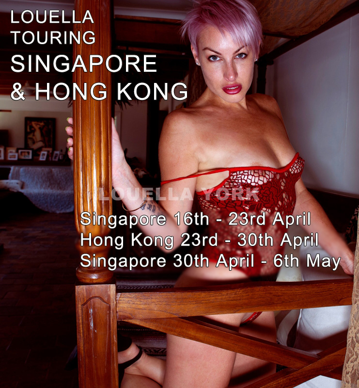 Louella York touring Singapore & Hong Kong Until May 6th