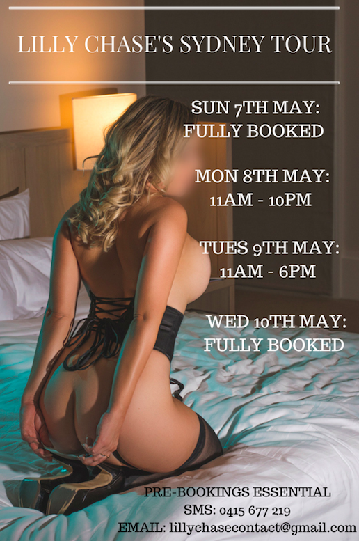 Lilly Chase's Very First Sydney Tour May 7 - 10 - Limited Availability Left!