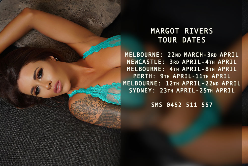 Melbourne Escort Margot Rivers in Sydney, Newcastle and Perth