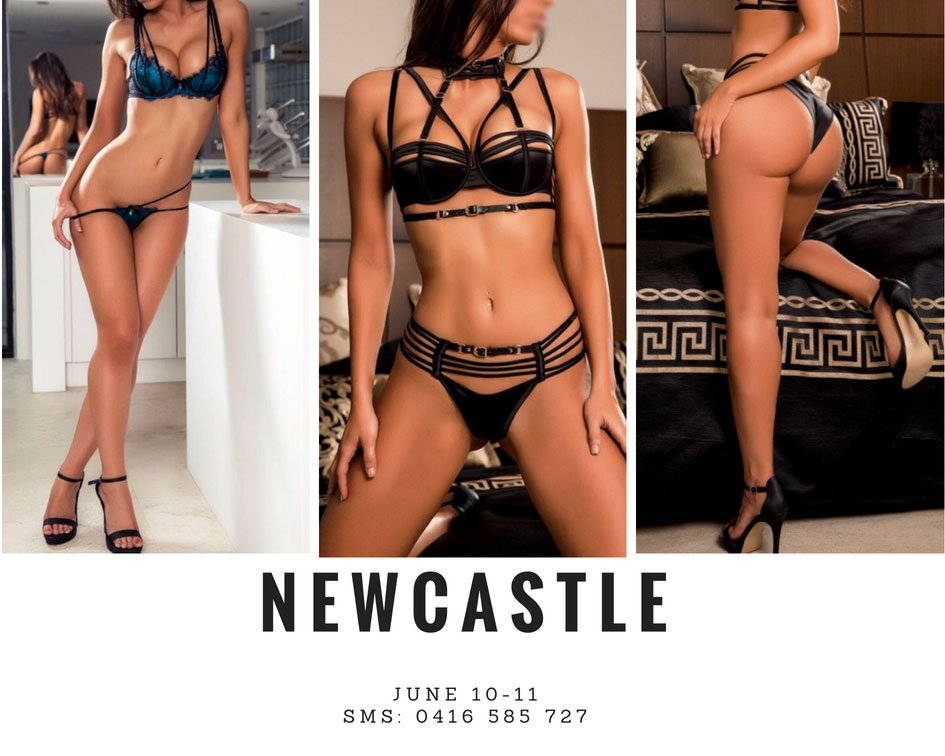 Busty brunette escort in Newcastle